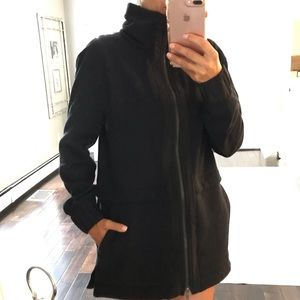 Lululemon Black zip cozy high neck coat / jacket 8